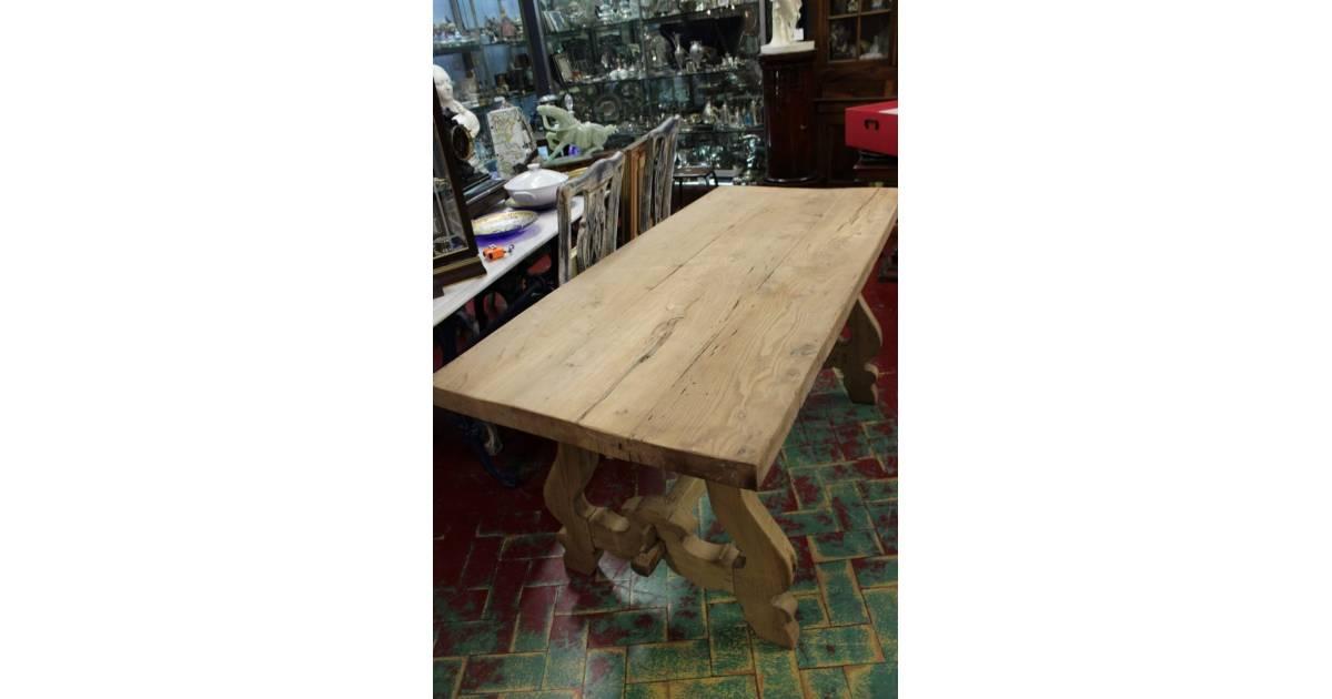 Bellissimo tavolo fratino in legno sbiancato epoca XX ...