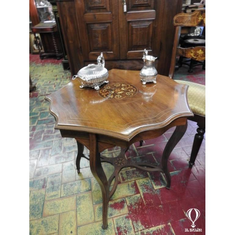 comodini Antico tavolino inglese intarsiato epoca Edoardiana ...