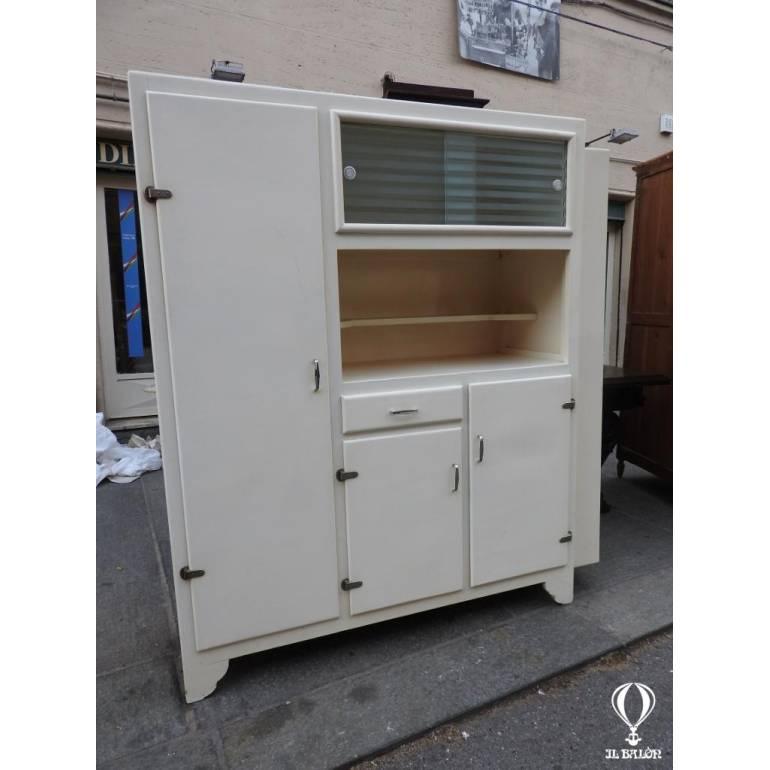 mobile dispensa credenza cucina anni 50 60 lacca bianca | il ...