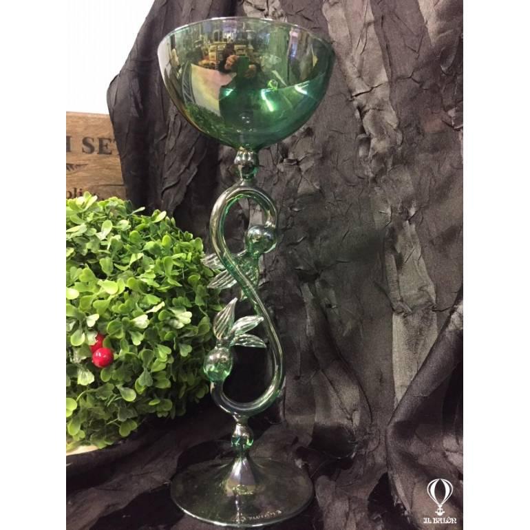 Prezioso calice bicchiere da collezione vetro d\\\'arte Murano ...
