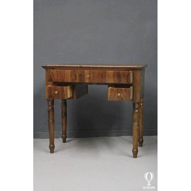 Piccolo scrittoio In legno e radica di noce, epoca XIX ...
