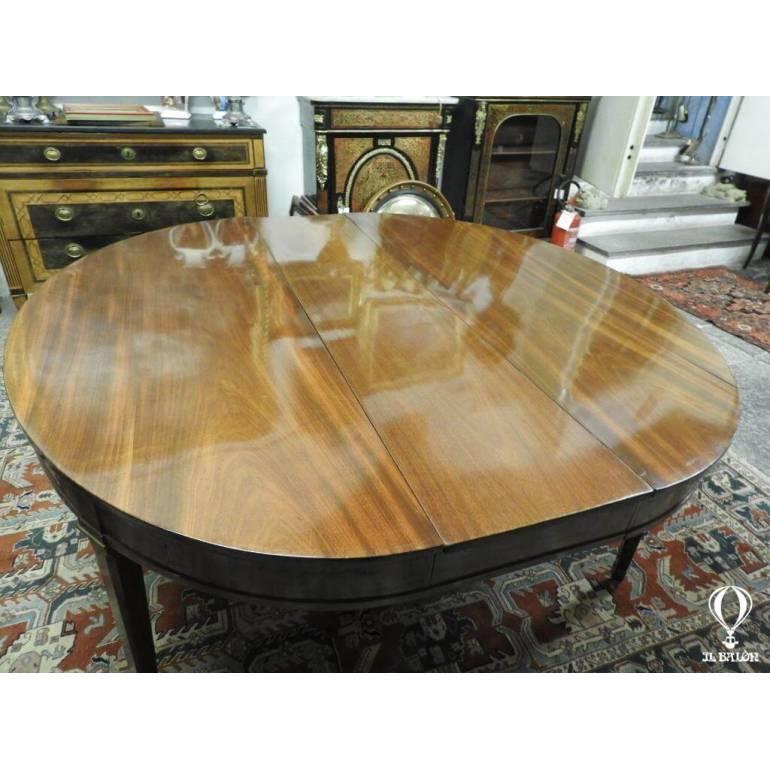 Antico Tavolo Ovale Allungabile Luigi Xvi Collezione Armando Colombari Il Balon