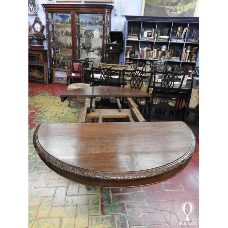 Tavolo Rotondo Allungabile A Torino.Antico Tavolo Rotondo Allungabile Dell 800 Gamba Centrale Francia