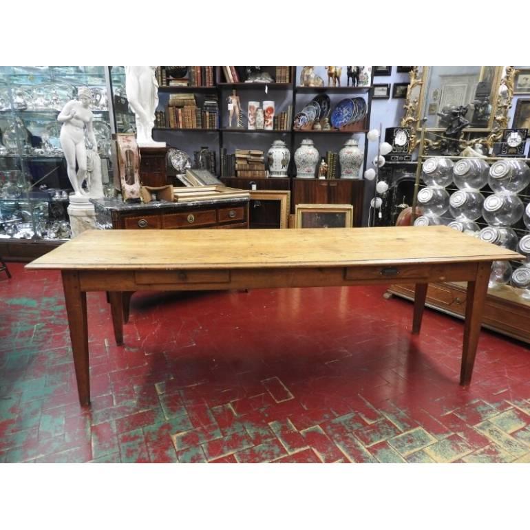 Antico grande tavolo d\'epoca 700 in legno di noce biondo ...