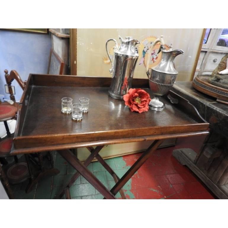 Tavolo Pieghevole Con Vassoio.Tavolino Servomuto Inglese Con Vassoio Londra Epoca Inizi Del 900