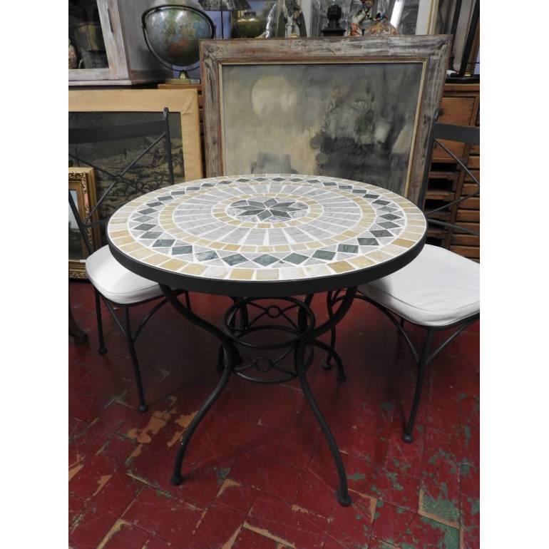 Tavolo Da Giardino Tondo Ferro.Tavolino Rotondo Da Giardino In Ferro Con 2 Sedie Il Balon