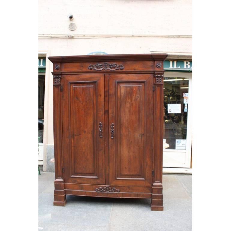 Antico armadio dell'800 Piemontese in legno di noce | il Balon